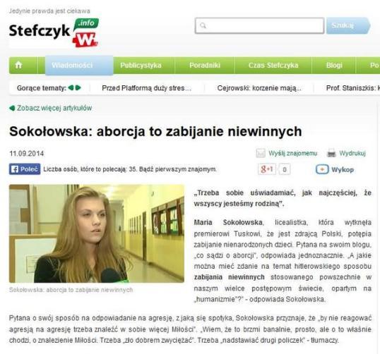 ekspertka od aborsji sokołowska