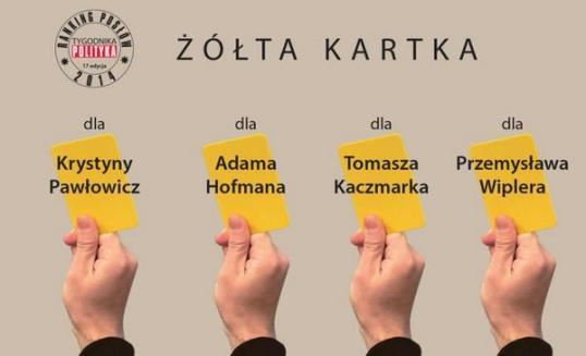 polityka żółte kartki