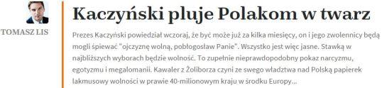 kaczyńskiPlujePolakomwTwrz