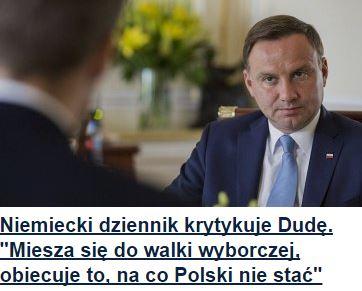 niemieckiDziennikKrytykujeDudę