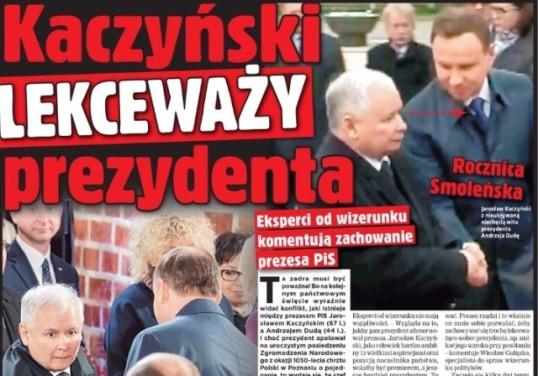 kaczyński lekceważy prezydenta