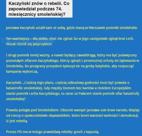 kaczyńskiZnówOrebelii